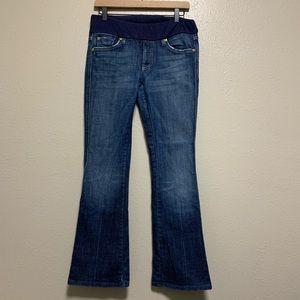 "7 FAMK maternity ""A"" pocket bootcut denim jeans"